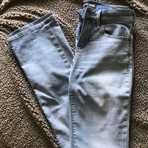 Express barely boot mid rise light wash jeans
